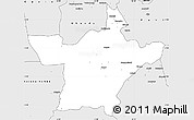 Silver Style Simple Map of Kindu