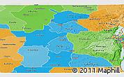 Political Shades Panoramic Map of Maniema