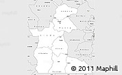 Silver Style Simple Map of Maniema