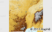 Physical 3D Map of Beni
