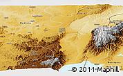 Physical Panoramic Map of Beni