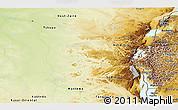 Physical Panoramic Map of Kivu