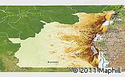 Physical Panoramic Map of Kivu, satellite outside