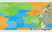 Political Panoramic Map of Kivu