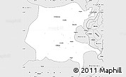 Silver Style Simple Map of Kabare