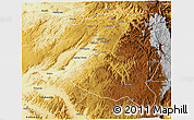 Physical 3D Map of Mwenga