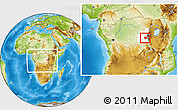 Physical Location Map of Mwenga, highlighted grandparent region, within the entire country