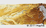 Physical Panoramic Map of Mwenga