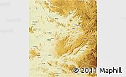 Physical 3D Map of Shabunda