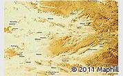 Physical Panoramic Map of Shabunda