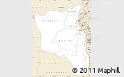 Classic Style Simple Map of Sud-Kivu