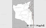 Gray Simple Map of Sud-Kivu