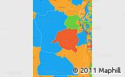 Political Simple Map of Sud-Kivu