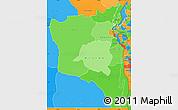 Political Shades Simple Map of Sud-Kivu