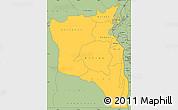 Savanna Style Simple Map of Sud-Kivu