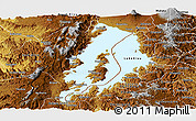 Physical Panoramic Map of Lake Kivu