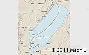 Classic Style Map of Lake Mweru