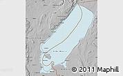 Gray Map of Lake Mweru