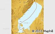 Physical Map of Lake Mweru