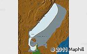 Political Map of Lake Mweru, darken