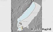 Political Map of Lake Mweru, desaturated