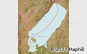 Political Map of Lake Mweru, satellite outside