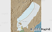 Political Map of Lake Mweru, semi-desaturated