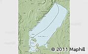 Savanna Style Map of Lake Mweru
