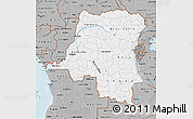 Gray Map of Democratic Republic of the Congo