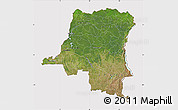Satellite Map of Democratic Republic of the Congo, cropped outside