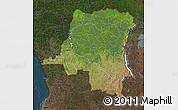 Satellite Map of Democratic Republic of the Congo, darken