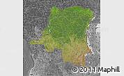 Satellite Map of Democratic Republic of the Congo, desaturated