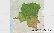 Satellite Map of Democratic Republic of the Congo, lighten