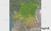 Satellite Map of Democratic Republic of the Congo, semi-desaturated