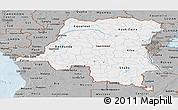 Gray Panoramic Map of Democratic Republic of the Congo