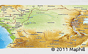 Physical Panoramic Map of Democratic Republic of the Congo