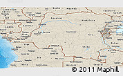 Shaded Relief Panoramic Map of Democratic Republic of the Congo