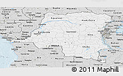 Silver Style Panoramic Map of Democratic Republic of the Congo
