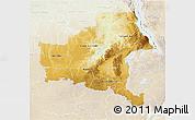 Physical 3D Map of Shaba, lighten