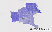 Political Shades 3D Map of Shaba, cropped outside