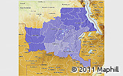 Political Shades 3D Map of Shaba, physical outside