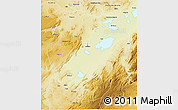 Physical 3D Map of Bukama
