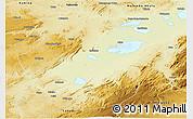 Physical Panoramic Map of Bukama