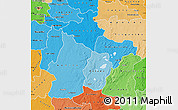 Political Shades Map of Haut-Lomami