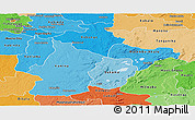 Political Shades Panoramic Map of Haut-Lomami