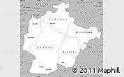 Gray Simple Map of Haut-Lomami