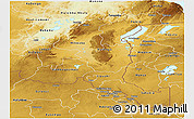 Physical Panoramic Map of Haut-Shaba