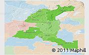Political Shades Panoramic Map of Haut-Shaba, lighten