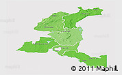 Political Shades Panoramic Map of Haut-Shaba, single color outside