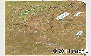 Satellite Panoramic Map of Haut-Shaba